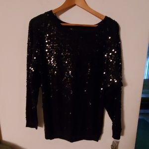 INC NWT Black Long Sleeve Blouse - XS